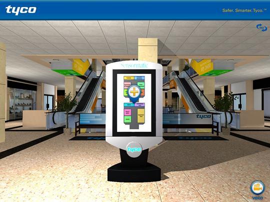 Interactive tour app - home screen