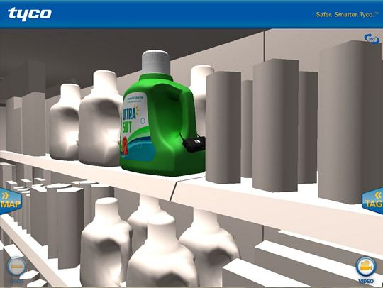 Interactive tour app - laundry detergent screen