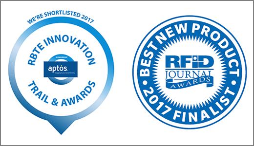 RBTE Innovation Trail and RFIDJournal LIVE! Award logos