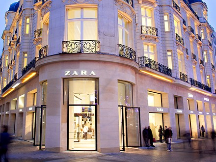 Zara Store in Champs-Elysees, Paris, France