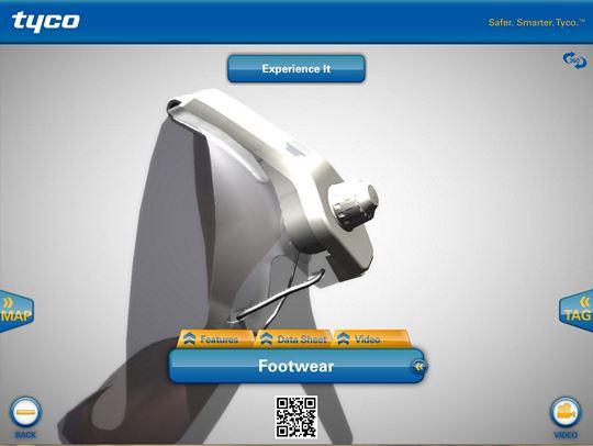 Interactive tour app - High-heel footwear tag screen